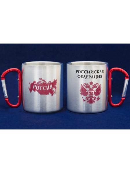 Кружка из Нержавейки с Карабином Россия