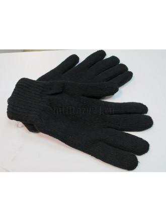 Перчатки Черные Вязаные Двойные