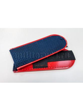 Погоны Полиция Темно-синие Красный Кант Чистые (ОВД) 12 см