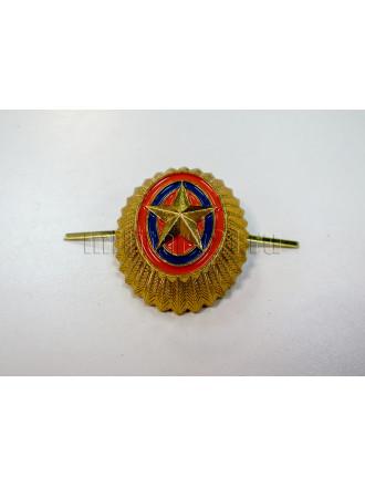 Кокарда Металл МЧС Нового Образца со Звездой Малая Золотая