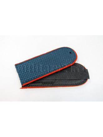 Погоны МЧС Серо-синие Оранжевый Кант Чистые на Китель 12 см