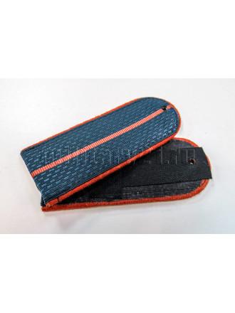 Погоны МЧС Серо-синие Оранжевый Кант 1 Оранжевый Просвет на Китель 12 см