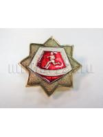 Значок Металл Воин-Спортсмен (Звезда Восьмиконечная Красная)