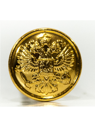 Пуговица Орел 22 мм с Ободком Золотая