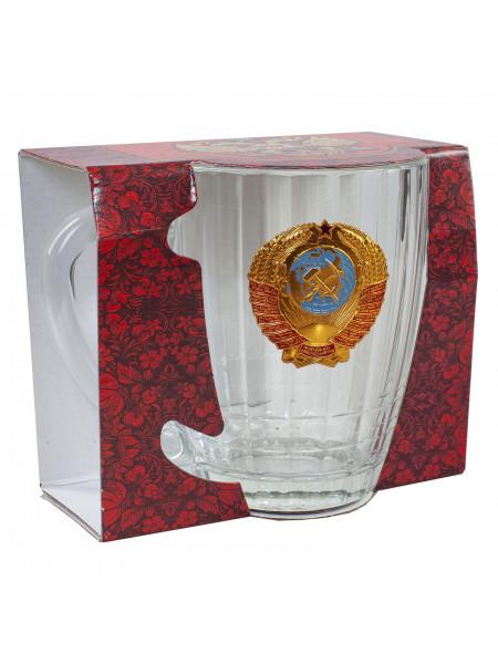 Кружка Пивная со Значком СССР Стекло