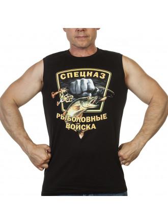 Майка Безрукавка Рыболовные Войска Спецназ Черная