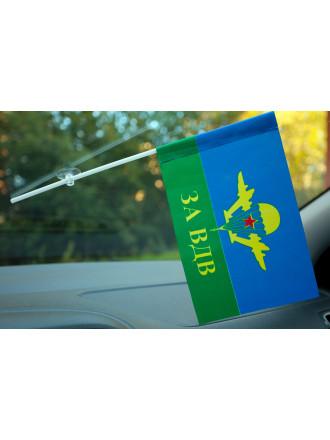 Флажок За ВДВ Желтый Купол Звезда с Присоской 15x23 см