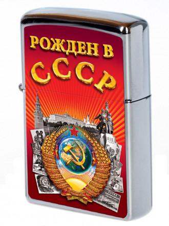 Зажигалка Рожден в СССР Красная