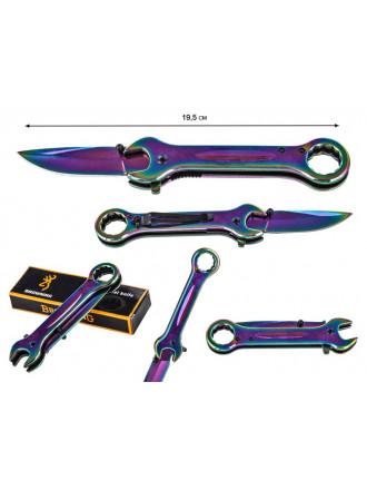 Нож с Гаечными Кючами Frost Cutlery FC12 Wrench Knife Linerlock Gray RB