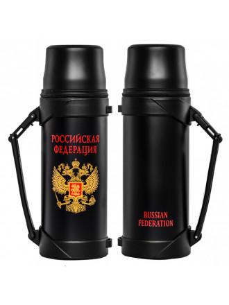 Термос 1л Россия Черный