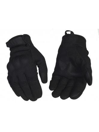 Перчатки Тактические с Сетчатым Покрытием Черные