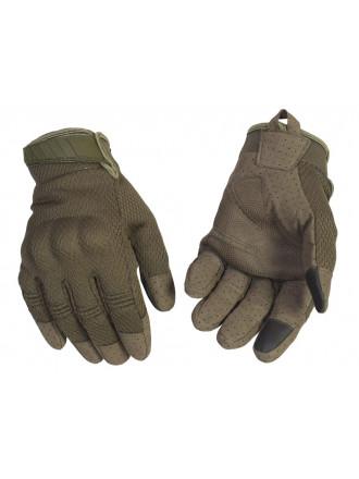 Перчатки Тактические с Сетчатым Покрытием Олива