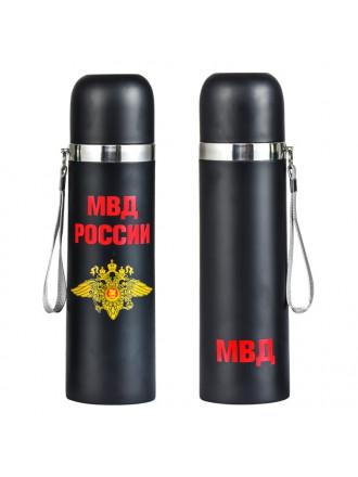Термос 0.5л МВД России Черный