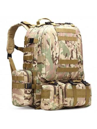 Рюкзак Military Combat 50 л 3 подсумка тактический мультикам