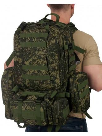 Рюкзак Military Combat 50 л 3 Подсумка Тактический Зеленая Цифра