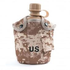Фляга армейская US 2 в 1 Desert digital