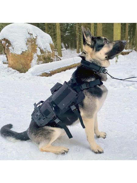 Жилет Разгрузочный для Служебных Собак Черный