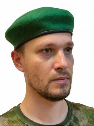 Берет Зеленый Бесшовный Фетровый