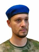 Берет Васильковый Бесшовный Фетровый