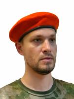 Берет Оранжевый Бесшовный Фетровый