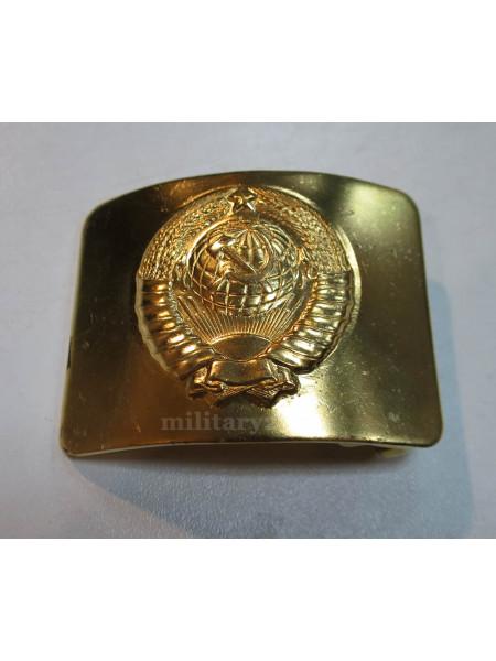 Бляха на Солдатский Ремень Герб СССР Латунь