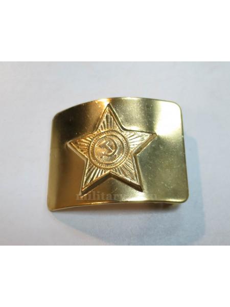 Бляха на Солдатский Ремень Звезда СА Латунь