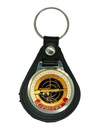 Брелок с жетоном Снайпер (черный берет) на виниловой подложке