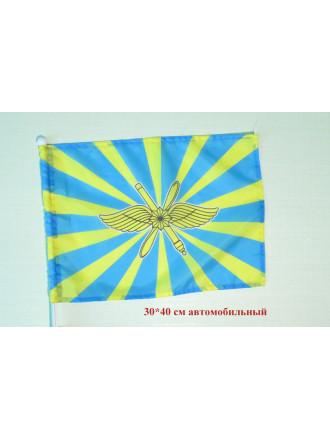 Флаг ВКС на Авто 30х40 см