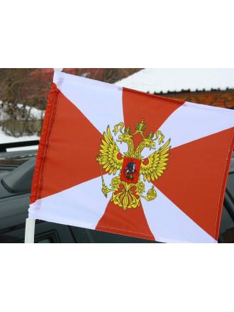 Флаг Внутренних Войск Автомобильный c Кронштейном 30x40 см