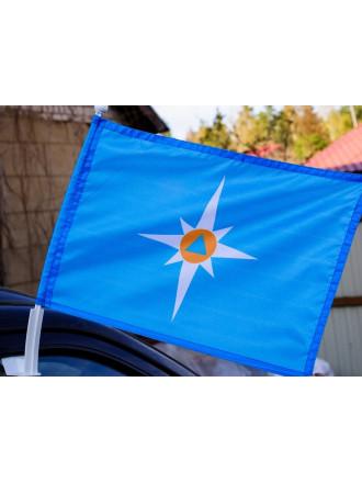 Флаг МЧС на Авто 30x40 см