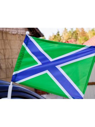 Флаг Морчасти Погранвойск на Авто 30x40 см
