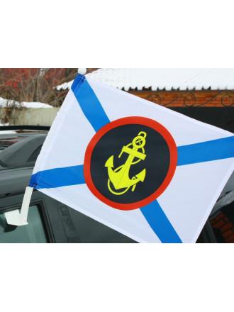 Флаг Морская пехота на авто 30x40 см