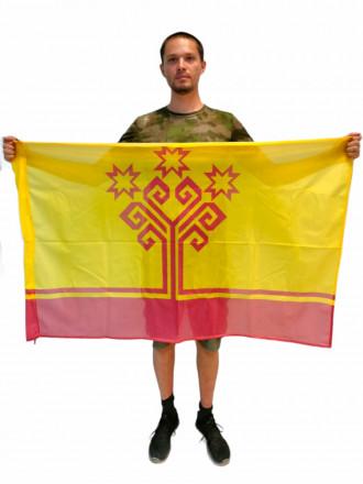 Флаг Чувашской Республики Флажная Сетка 90x135см