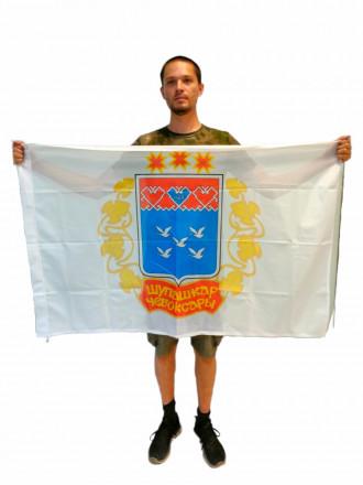 Флаг Чебоксар Флажная Сетка 90x135см