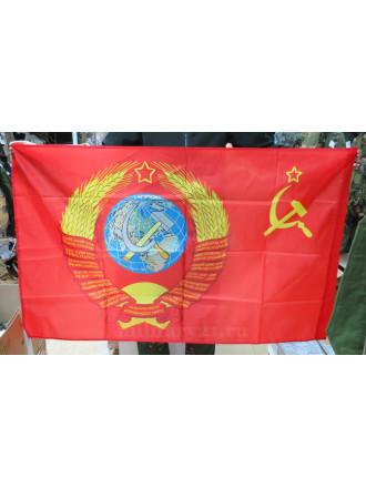 Флаг Герб СССР 90х135 см