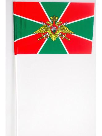 Флаг Погранвойска 15x23 на Палочке без Присоски