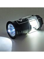 Походный Фонарь с Солнечной Батареей 6 SMD LED Черный