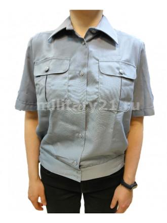 Рубашка Форменная Офицерская Женская Короткий Рукав Серая ФСИН
