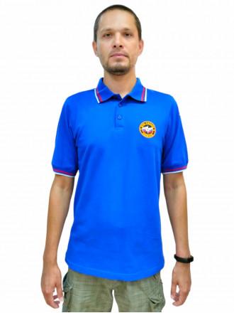 Рубашка Поло МЧС (Короткий Рукав) с Печатью на Спине