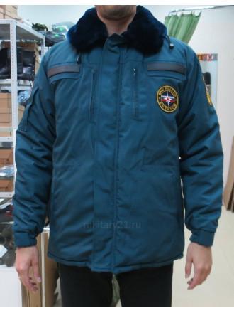 Куртка Зимняя Бушлат МЧС с Нашивками