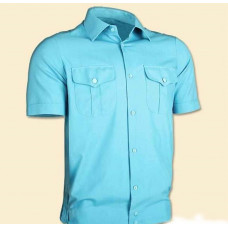 Рубашка МЧС короткий рукав мужская бирюза