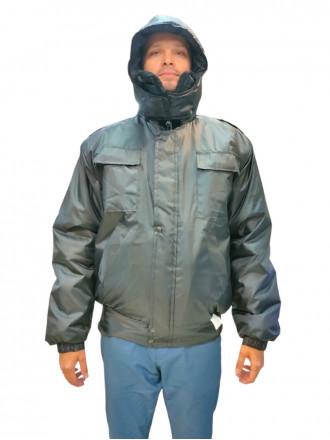 Куртка Охранника Черная зимняя