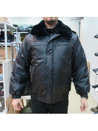 Куртка Охрана Зимняя Черная на Резинке