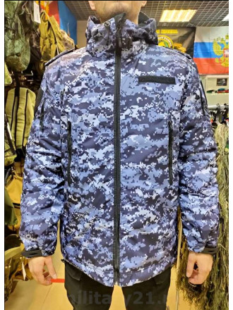 Куртка Росгвардия Демисезонная Удлиненная Синяя Точка