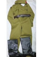 Костюм Детский Сувенирный Солдат с Сапогами-Имитацией