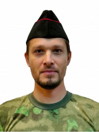 Пилотка Морская пехота (черная с красным кантом) п/ш