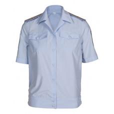 Рубашка МВД женская короткий рукав голубая
