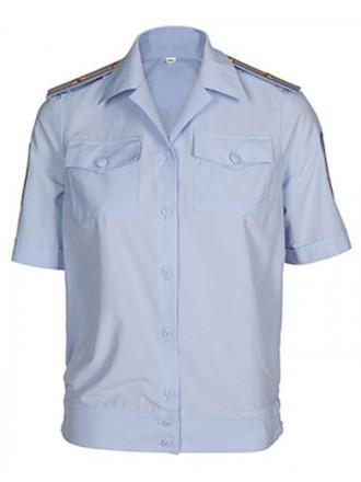 Рубашка МВД Полиции Женская Короткий Рукав Голубая
