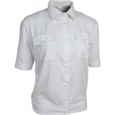 Рубашка МВД женская короткий рукав белая