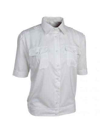 Рубашка МВД Полиции Женская Короткий Рукав Белая